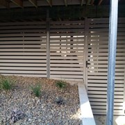 Horizontal Slat Privacy Screen